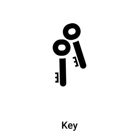 Key icon vector isolated on white background,  concept of Key sign on transparent background, filled black symbol Иллюстрация