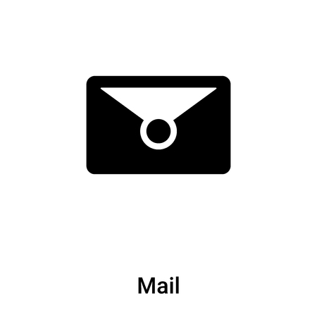 Mail icon vector isolated on white background,  concept of Mail sign on transparent background, filled black symbol Иллюстрация