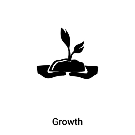 Growth icon vector isolated on white background, concept of Growth sign on transparent background, filled black symbol