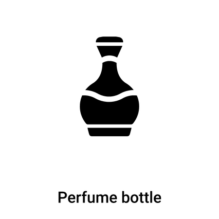 Perfume bottle icon  vector isolated on white background, concept of Perfume bottle  sign on transparent background, filled black symbol