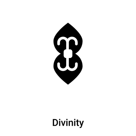 Divinity icon vector isolated on white background, concept of Divinity sign on transparent background, filled black symbol Ilustrace