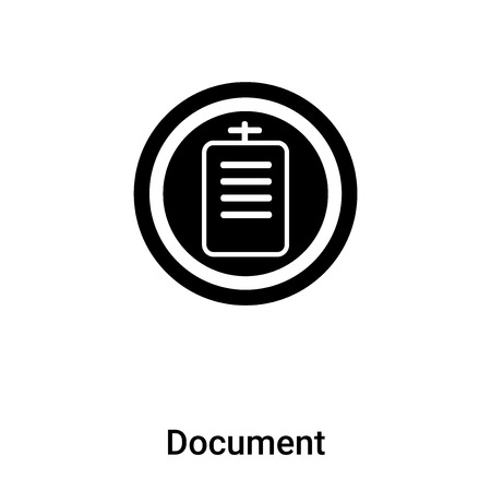 Document icon vector isolated on white background,  concept of Document sign on transparent background, filled black symbol