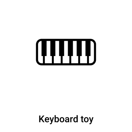 Keyboard toy icon vector isolated on white background,  concept of Keyboard toy sign on transparent background, filled black symbol