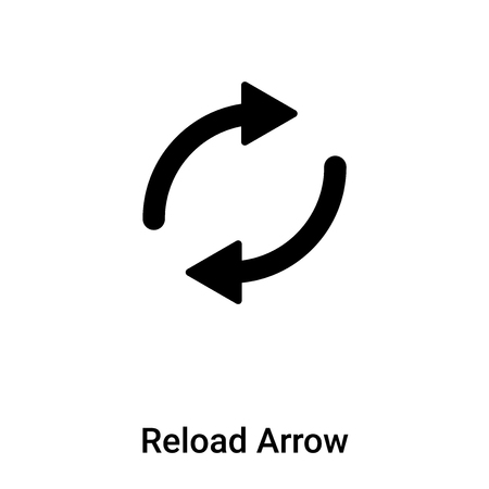 Reload Arrow icon vector isolated on white background,  concept of Reload Arrow sign on transparent background, filled black symbol