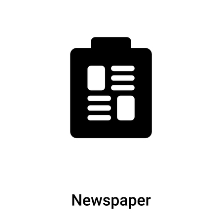 Newspaper icon vector isolated on white background,  concept of Newspaper sign on transparent background, filled black symbol