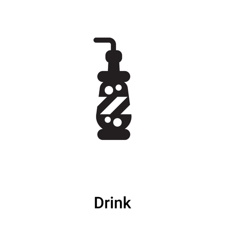 Drink icon vector isolated on white background,  concept of Drink sign on transparent background, filled black symbol Иллюстрация