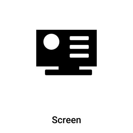 Screen icon vector isolated on white background,  concept of Screen sign on transparent background, filled black symbol