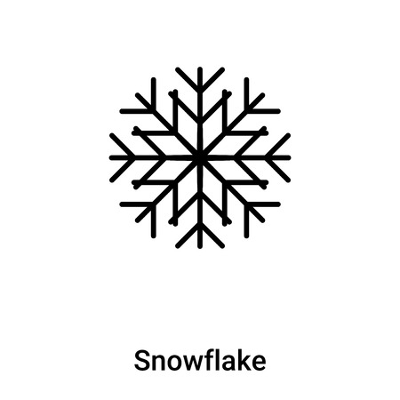 Snowflake icon vector isolated on white background, concept of Snowflake sign on transparent background, filled black symbol