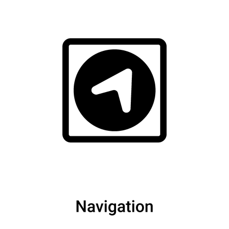 Navigation icon vector isolated on white background,  concept of Navigation sign on transparent background, filled black symbol