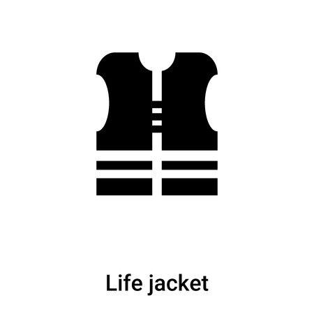 Life jacket icon vector isolated on white background,  concept of Life jacket sign on transparent background, filled black symbol Иллюстрация