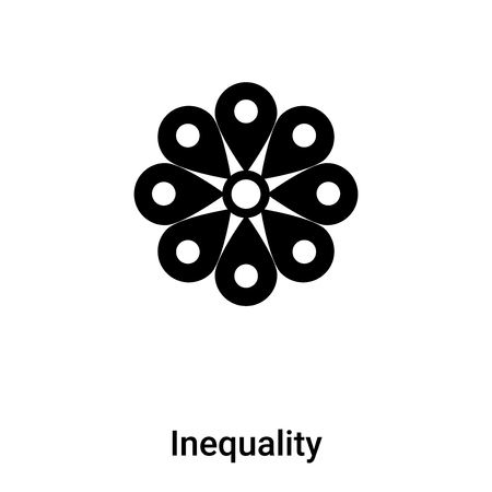 Inequality icon vector isolated on white background,  concept of Inequality sign on transparent background, filled black symbol Иллюстрация