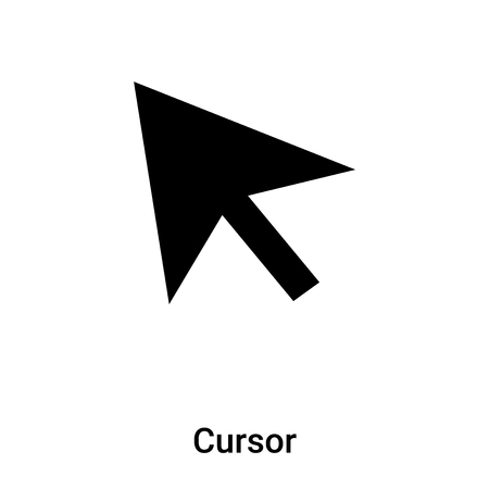 Cursor icon vector isolated on white background,  concept of Cursor sign on transparent background, filled black symbol