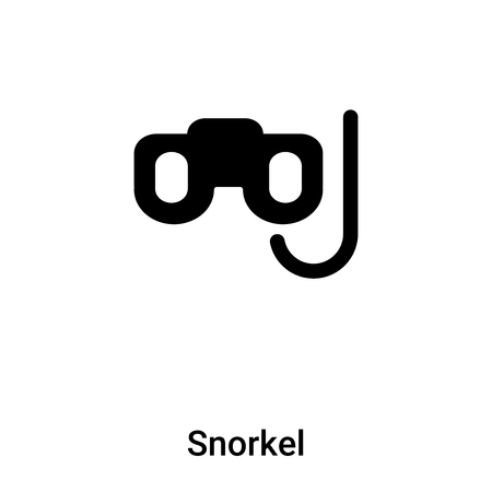 Snorkel icon vector isolated on white background,  concept of Snorkel sign on transparent background, filled black symbol