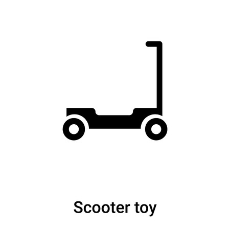 Scooter toy icon vector isolated on white background, concept of Scooter toy sign on transparent background, filled black symbol Иллюстрация