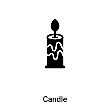 Candle icon vector isolated on white background, concept of Candle sign on transparent background, filled black symbol