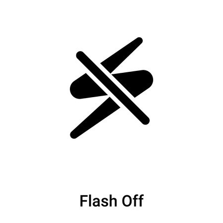Flash Off icon vector isolated on white background,  concept of Flash Off sign on transparent background, filled black symbol