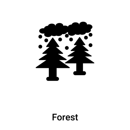 Forest icon vector isolated on white background,  concept of Forest sign on transparent background, filled black symbol