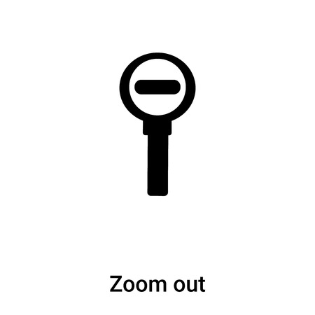 Zoom out icon vector isolated on white background,  concept of Zoom out sign on transparent background, filled black symbol Иллюстрация