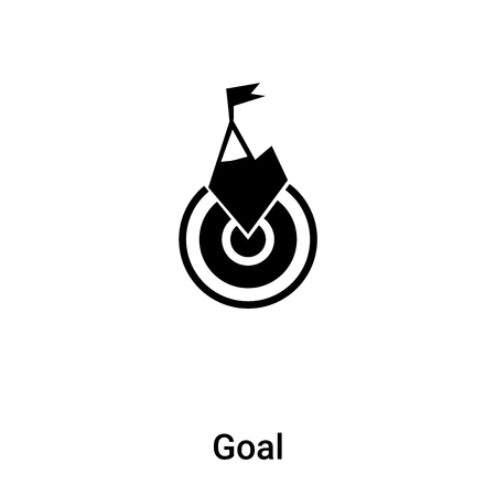 Goal icon vector isolated on white background,  concept of Goal sign on transparent background, filled black symbol