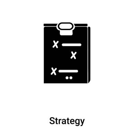 Strategy icon vector isolated on white background,  concept of Strategy sign on transparent background, filled black symbol