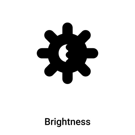 Brightness icon vector isolated on white background,  concept of Brightness sign on transparent background, filled black symbol