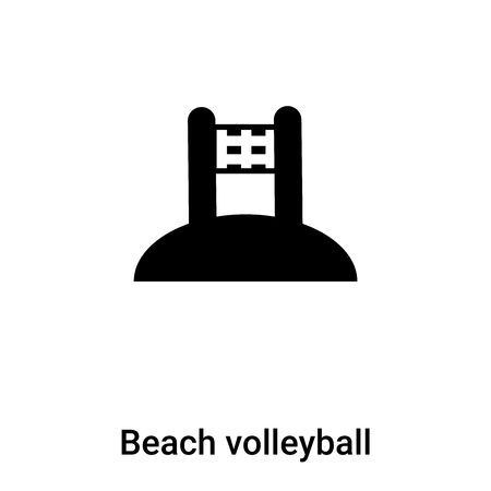 Beach volleyball icon vector isolated on white background,  concept of Beach volleyball sign on transparent background, filled black symbol