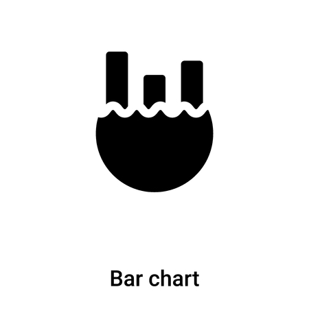 Bar chart icon vector isolated on white background,  concept of Bar chart sign on transparent background, filled black symbol Иллюстрация