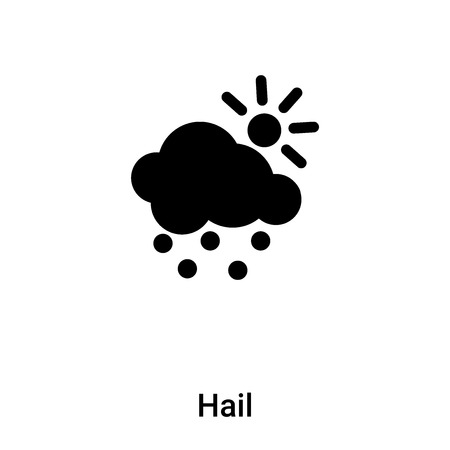 Hail icon vector isolated on white background,  concept of Hail sign on transparent background, filled black symbol