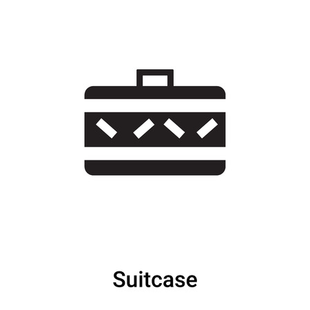 Suitcase icon vector isolated on white background,  concept of Suitcase sign on transparent background, filled black symbol