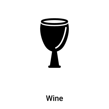 Wine icon vector isolated on white background,  concept of Wine sign on transparent background, filled black symbol
