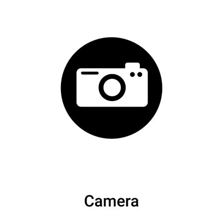 Camera icon vector isolated on white background, logo concept of Camera sign on transparent background, filled black symbol