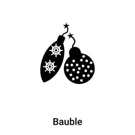 Bauble icon vector isolated on white background, logo concept of Bauble sign on transparent background, filled black symbol
