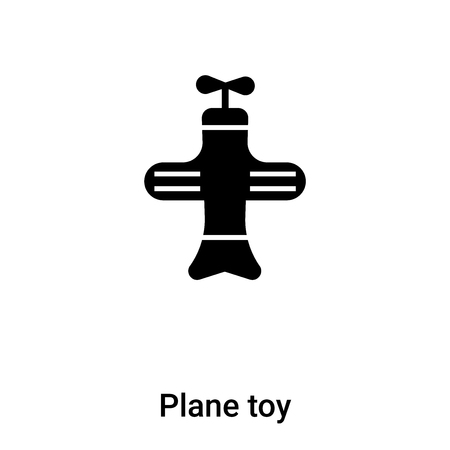 Plane toy icon vector isolated on white background, logo concept of Plane toy sign on transparent background, filled black symbol