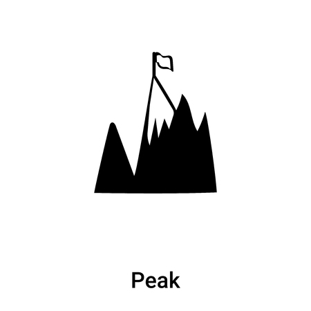 Peak icon vector isolated on white background, logo concept of Peak sign on transparent background, filled black symbol