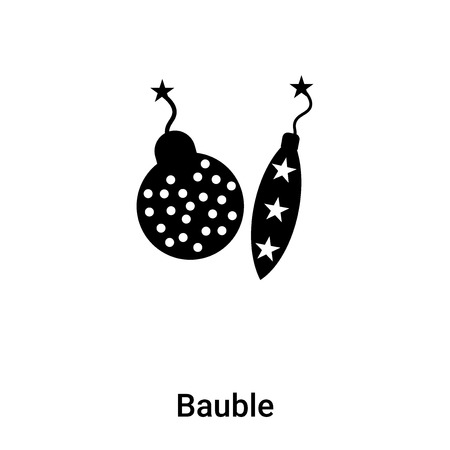 Bauble icon vector isolated on white background,  concept of Bauble sign on transparent background, filled black symbol Иллюстрация