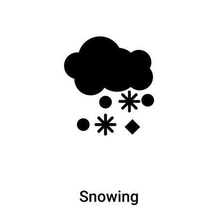 Snowing icon vector isolated on white background,  concept of Snowing sign on transparent background, filled black symbol