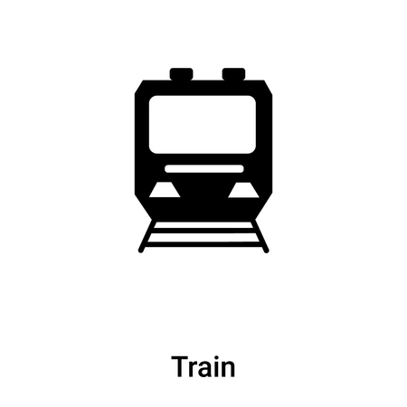Train icon vector isolated on white background,  concept of Train sign on transparent background, filled black symbol
