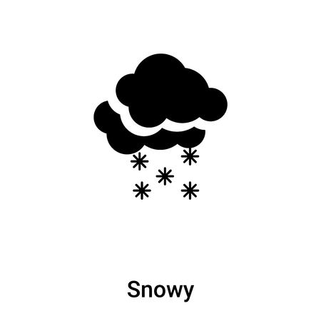 Snowy icon vector isolated on white background,  concept of Snowy sign on transparent background, filled black symbol