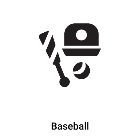 Baseball icon vector isolated on white background,  concept of Baseball sign on transparent background, filled black symbol Фото со стока - 121293963