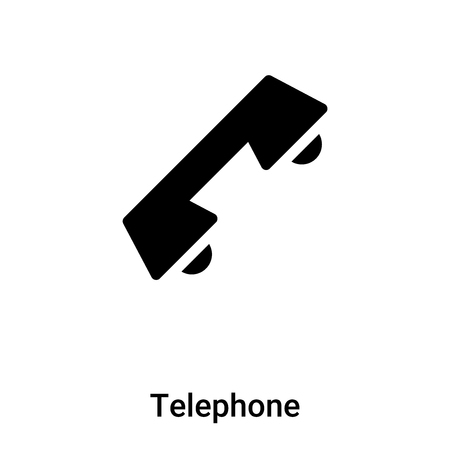 Telephone icon vector isolated on white background, concept of Telephone sign on transparent background, filled black symbol