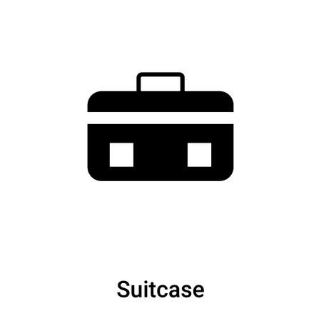 Suitcase icon vector isolated on white background,  concept of Suitcase sign on transparent background, filled black symbol Фото со стока - 121293970