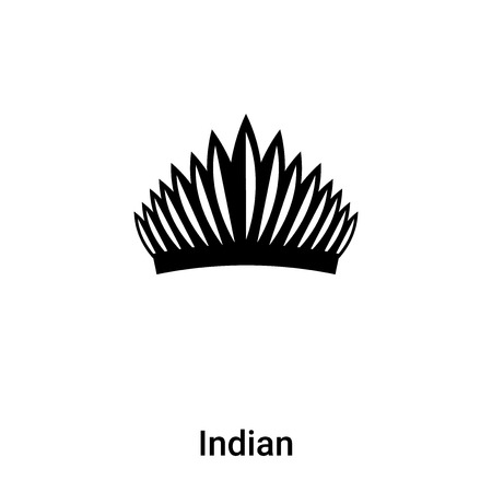 Indian icon vector isolated on white background,  concept of Indian sign on transparent background, filled black symbol