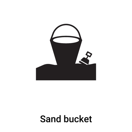Sand bucket icon vector isolated on white background,  concept of Sand bucket sign on transparent background, filled black symbol Фото со стока - 121364979