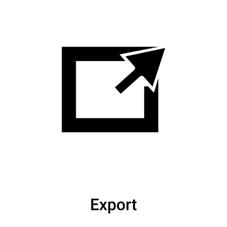 Export icon vector isolated on white background,  concept of Export sign on transparent background, filled black symbol