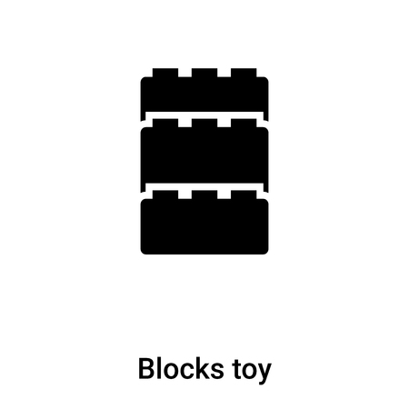 Blocks toy icon vector isolated on white background, concept of Blocks toy sign on transparent background, filled black symbol