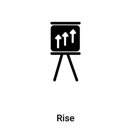 Rise icon vector isolated on white background,  concept of Rise sign on transparent background, filled black symbol