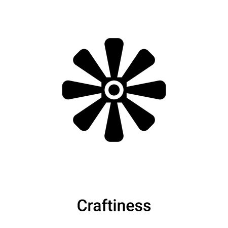 Craftiness icon vector isolated on white background,  concept of Craftiness sign on transparent background, filled black symbol Фото со стока - 121364989