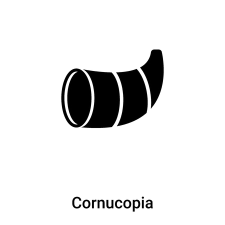 Cornucopia icon vector isolated on white background,  concept of Cornucopia sign on transparent background, filled black symbol