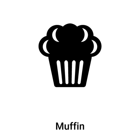 Muffin icon vector isolated on white background,  concept of Muffin sign on transparent background, filled black symbol