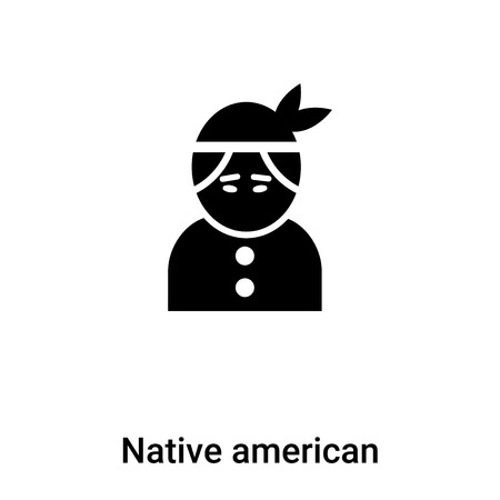 Native american icon vector isolated on white background,  concept of Native american sign on transparent background, filled black symbol